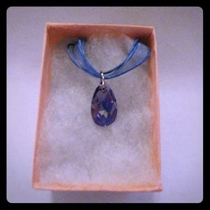 Jewelry - Precious Purple Crystal Teardrop Necklace